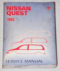 Nissan Quest 1993 Service Manual