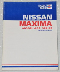 1995 NISSAN MAXIMA A32 Series Product Model Introduction Shop Manual GXE SE GLE