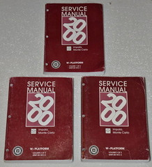 2000 Chevy Impala, Monte Carlo Factory Service Manual Set - Original Shop Repair
