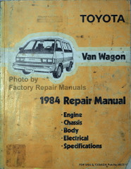 Toyota Van Wagon 1984 Repair Manual