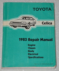 Toyota Celica 1983 Repair Manual