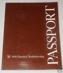 1994 HONDA PASSPORT DX, LX, EX Dealer Electrical Troubleshooting Shop Manual ETM