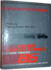 1985 GMC Safari Van Service Manual