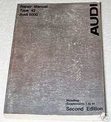 1978 1979 AUDI 5000 5000S Factory Dealer Shop Service Repair Manual 2nd Edition