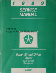 1989 Dodge Pickup Truck Ramcharger Service Manual