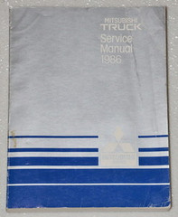 1986 MITSUBISHI MIGHTY MAX PICKUP TRUCK Dealer Shop Service Repair Manual SPX