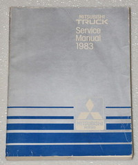 1983 MITSUBISHI MIGHTY MAX PICKUP TRUCK Dealer Shop Service Repair Manual SP SPX