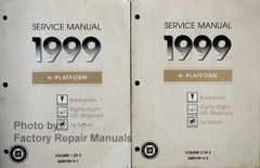 1999 Service Manual H Platform Pontiac Bonneville, Oldsmobile 88 LSS Regency Buick LeSabre Volume 1 and 2