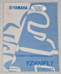 1999 YAMAHA YZ400FL1 YZ400FL YZ400 Motorcycle Orig Owners Service Repair Manual