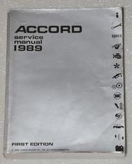 1989 Honda Accord Factory Service Manual - Original Shop Repair