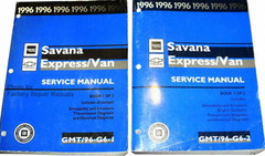 1996 GMC Savana Chevrolet Express Van Service Manual Volume 1, 2
