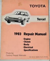 1983 Toyota Tercel Factory Service Manual Original Shop Repair