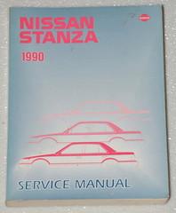 1990 NISSAN STANZA XE GXE Original Factory Dealer Shop Service Repair Manual 90