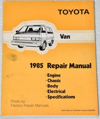 Toyota Van 1985 Repair Manual Engine Chassis Body Electrical Specifications