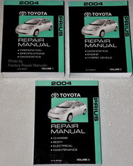 2004 Toyota Prius Factory Service Manual 3 Volume Set Original Shop Repair