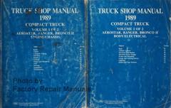 Ford 1989 Aerostar, Ranger, Bronco II Truck Shop Manual Volume 1, 2