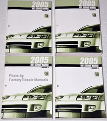 2005 Saturn View Service Manual Volume 1, 2, 3, 4
