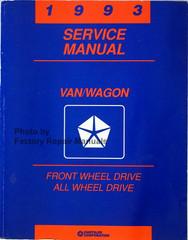 1993 Service Manual Van/Wagon Front Wheel Drive All Wheel Drive
