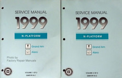 GM 1999 N Platform Grand Am Alero Service Manual Volume 1, 2
