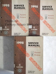 1998 Oldsmobile Aurora, Buick Riviera Service Manual Volume 1, 2, 3