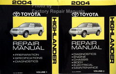 2004 Toyota Highlander Repair Manual Volume 1, 2