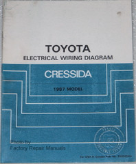 Toyota Electrical Wiring Diagrams Cressida 1987 Model