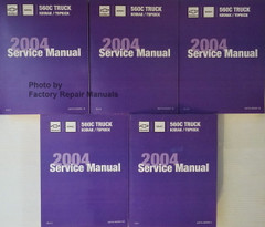 2004 Chevrolet Kodiak GMC Topkick Service Manual Volume 1, 2, 3