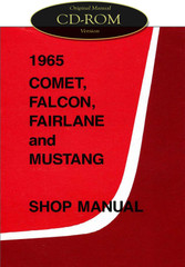 1965 Ford Mustang Falcon Fairlane Ranchero Mercury Comet Shop Manual