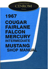 1967 Ford Mustang Falcon Fairlane Ranchero Mercury Cougar Shop Service Manual CD