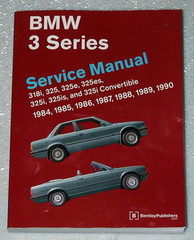 1984 - 1990 BMW 3 Series E30 Robert Bentley Service Repair Manual 325e 325i 318i