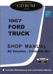 1967 Ford Truck Shop Manual All Volumes Complete Set CD-ROM
