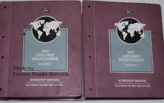 Ford Mercury 1997 Explorer Mountaineer Service Manual Volume 1, 2