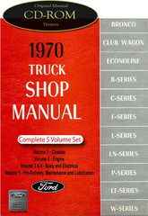 1970 Ford Truck Van Bronco Bus Factory Shop Service Repair Manual CD