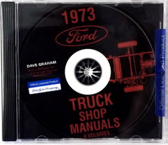 1973 Ford Truck Shop Manuals 5 Volumes
