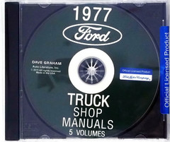 1977 Ford Truck Shop Manuals 5 Volumes