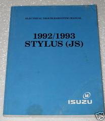 1992 1993 ISUZU STYLUS Electrical Troubleshooting Shop Manual Wiring Diagram ETM