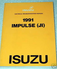 1991 Isuzu Impulse Electrical Troubleshooting Manual Wiring Diagrams