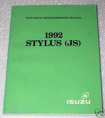 Electrical Troubleshooting Manual 1992 Stylus (JS) Isuzu