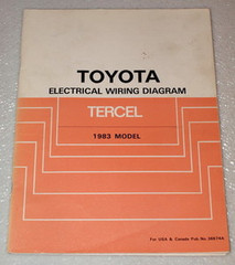 1983 Toyota Tercel Electrical Wiring Diagrams Original Shop Manual