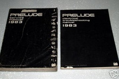 1983 Honda Prelude Service Manual and Electrical Troubleshooting Manual