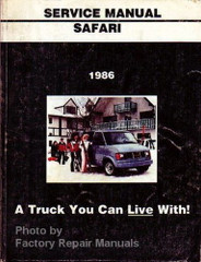 1986 GMC Safari Van Service Manual