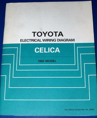 1982 Toyota Celica Electrical Wiring Diagrams Original Factory Manual