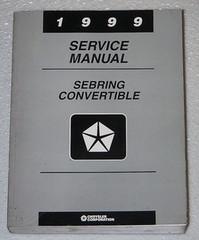 1999 Chrysler Sebring Convertible Service Manual