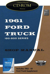1961 1962 1963 Ford 100-800 Truck Bus Parcel Delivery Shop Service Manual CD