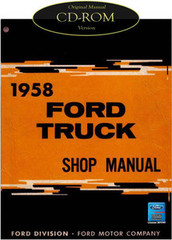 1958 Ford Truck F-100 F-250 F-350 P-350 B-600 Bus Factory Shop Service Manual CD