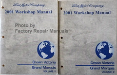 2001 Ford Crown Victoria Mercury Grand Marquis Electrical Wiring Diagrams Factory Repair Manuals