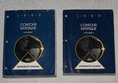 1999 Ford Contour and Mercury Mystique Factory Service Manual Set - Original Shop Repair