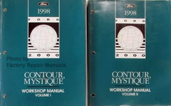 1998 Ford Contour Mercury Mystique Workshop Manual Volume 1, 2