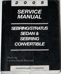 2005 Chrysler Sebring Sedan, Convertible, Dodge Stratus Sedan Factory Service Manual
