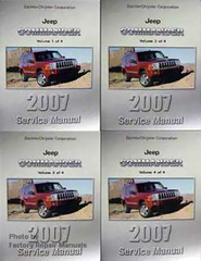 2007 Jeep Commander Service Manual Volume 1, 2, 3, 4